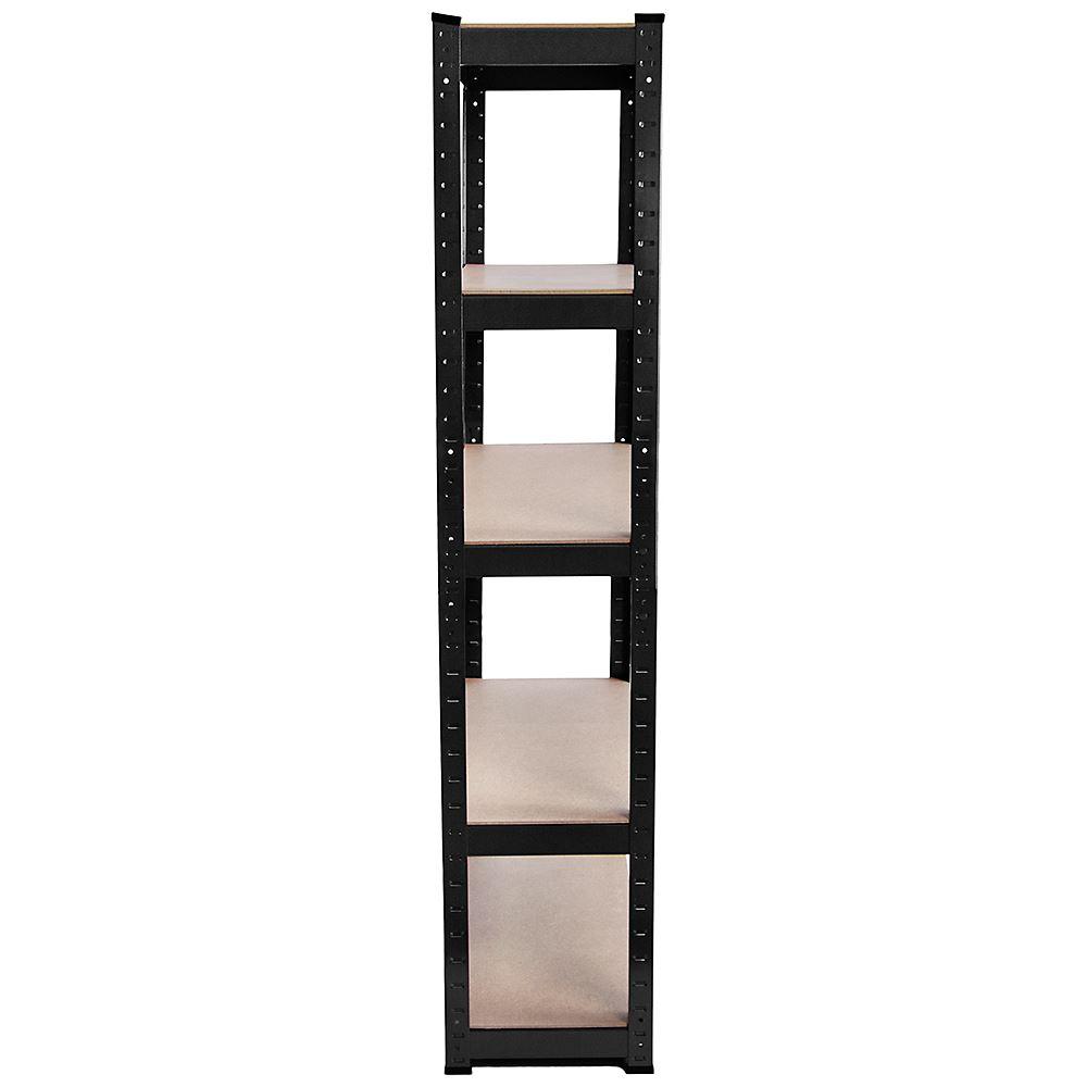5-Tier-Shelf-Black-Heavy-Duty-Warehouse-DIY-Garage-Storage-Rack-Shelving-Unit thumbnail 9