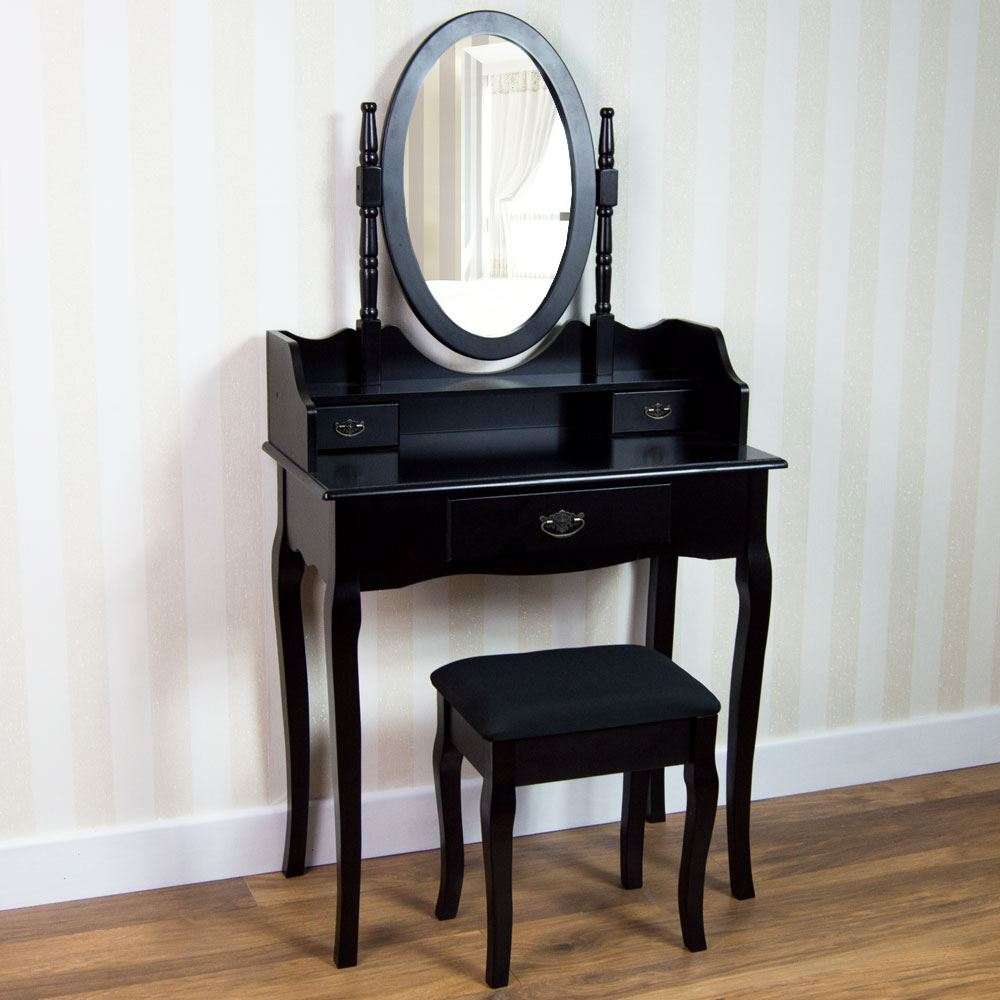 Nishano dressing table drawer stool mirror bedroom makeup for Bedroom dressing table
