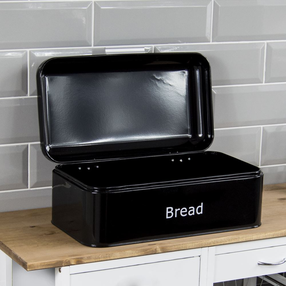 Bread-Bin-Retro-Curved-Mirrored-Steel-Kitchen-Loaf-Food-Storage-Container thumbnail 3