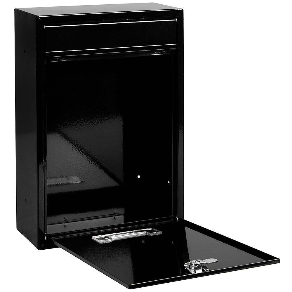 post box steel square large letter mailbox wall mounted. Black Bedroom Furniture Sets. Home Design Ideas