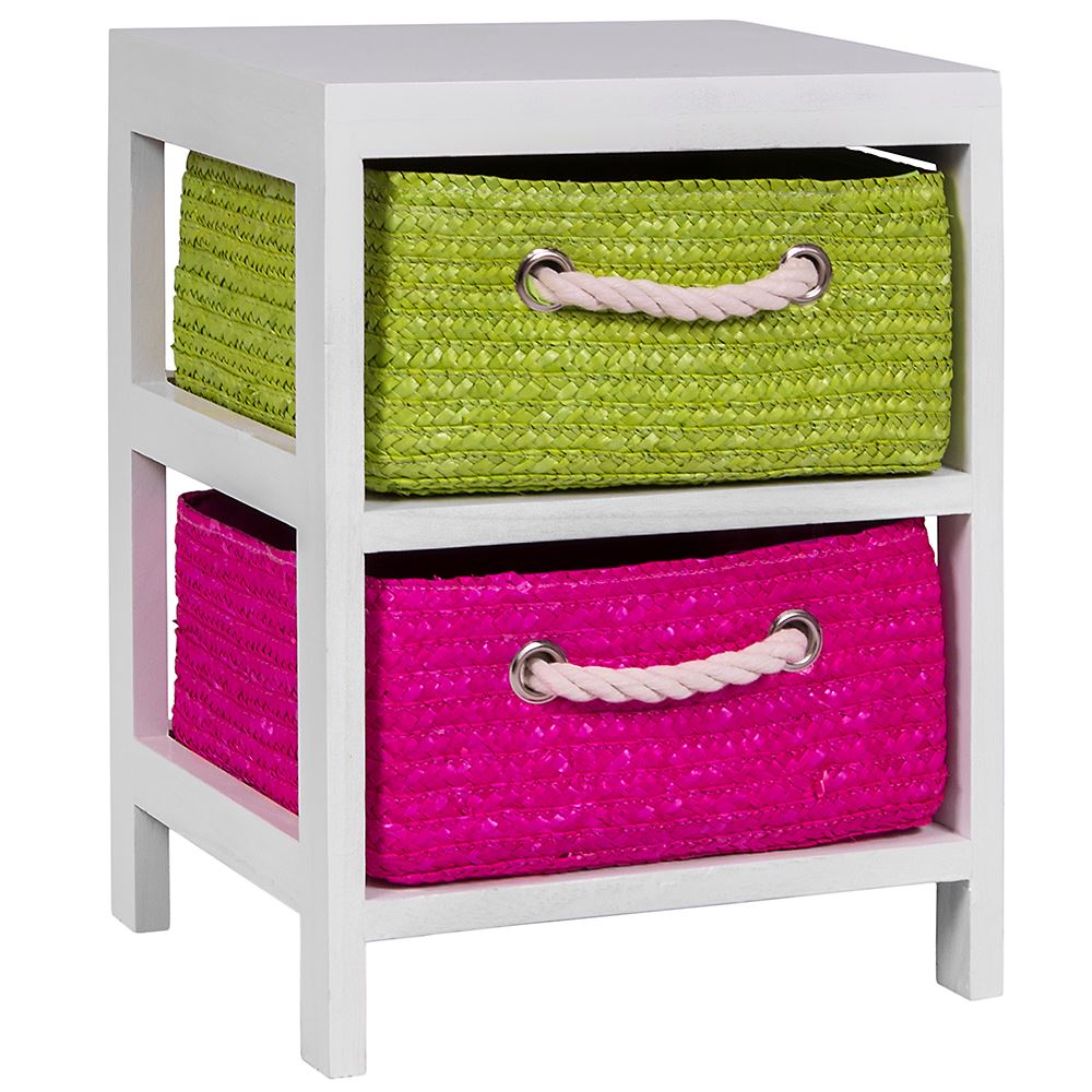 Unit-2-3-Or-4-Maize-Drawers-Basket-White-Wood-Storage-Container-Bathroom-Bedroom thumbnail 3