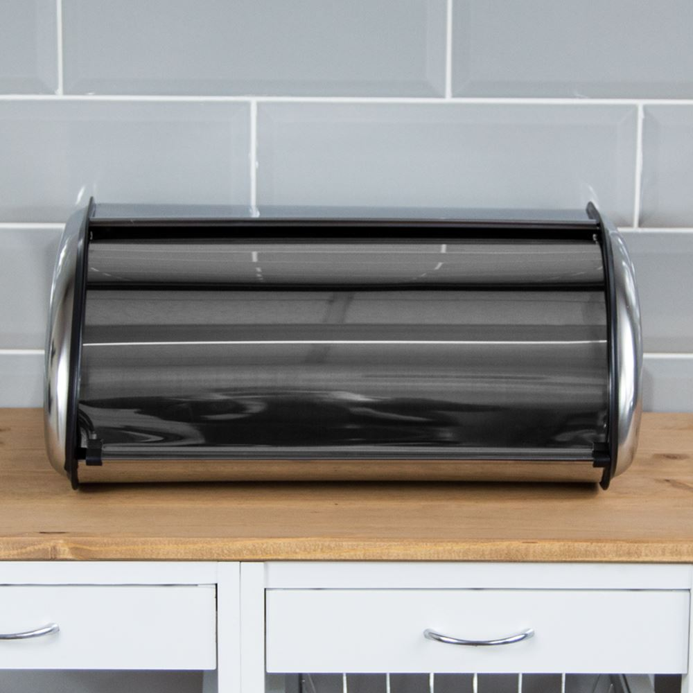 Kitchen Storage Bins: Bread Bin Retro Large Kitchen Food Storage Loaf Curved Bin