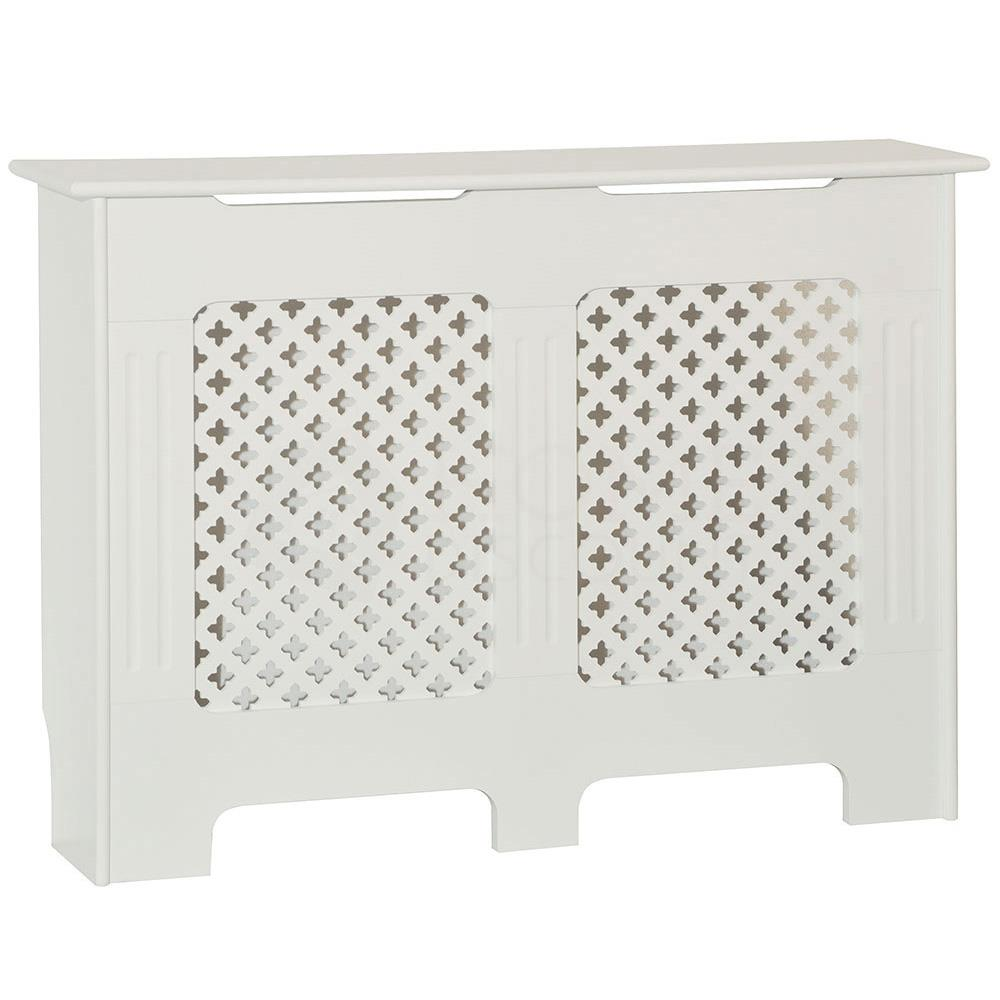 thumbnail 233 - Radiator Cover White Unfinished Modern Traditional Wood Grill Cabinet Furniture