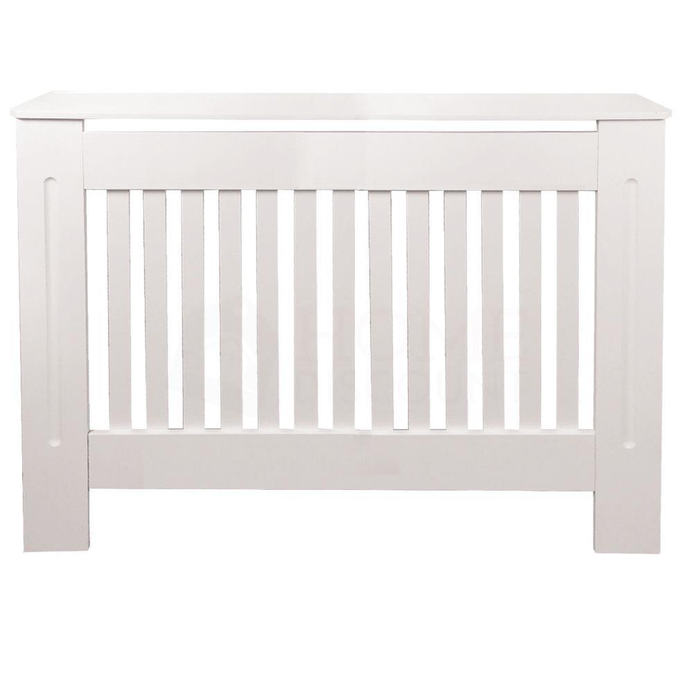 Chelsea-Couvre-radiateur-Moderne-Blanc-Armoire-a-lattes-Grill-meubles-en-bois-nouveau miniature 17