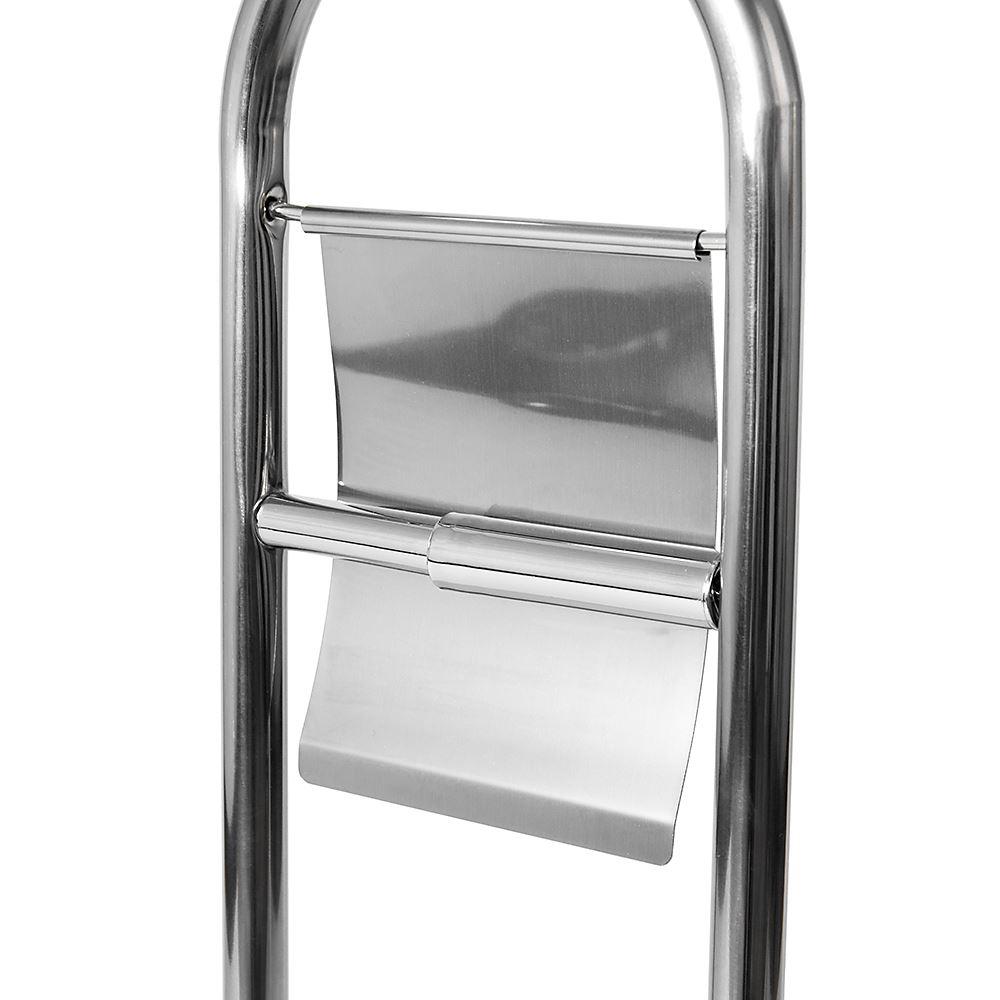 Toilet-Brush-amp-Paper-Holder-Stainless-Steel-Base-Bathroom-Tissue-Roll-Storage thumbnail 7