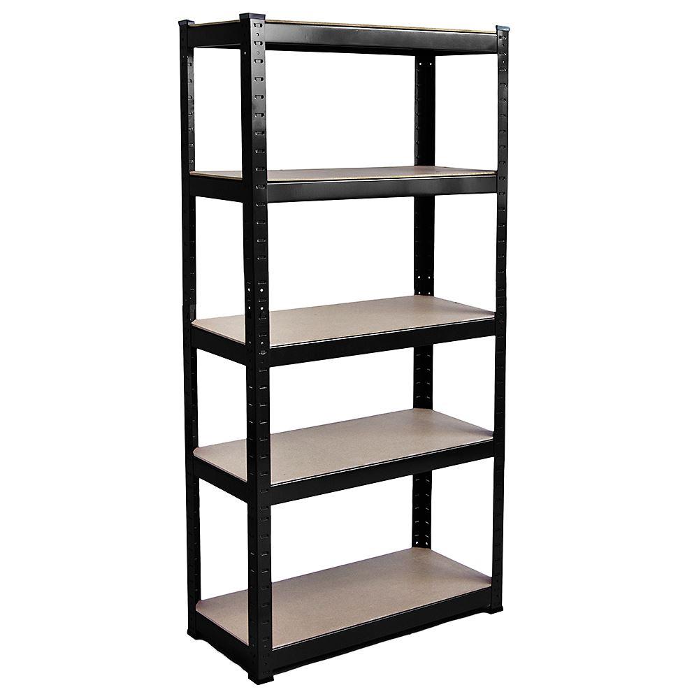 5-Tier-Shelf-Black-Heavy-Duty-Warehouse-DIY-Garage-Storage-Rack-Shelving-Unit thumbnail 3
