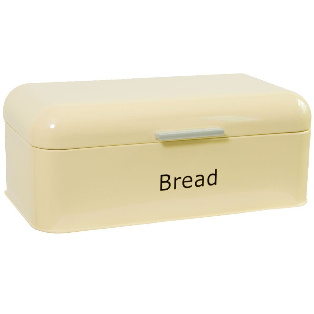 Curved-Bread-Bin-Steel-Kitchen-Top-Storage-Roll-Loaf-Box-New-By-Home-Discount thumbnail 16