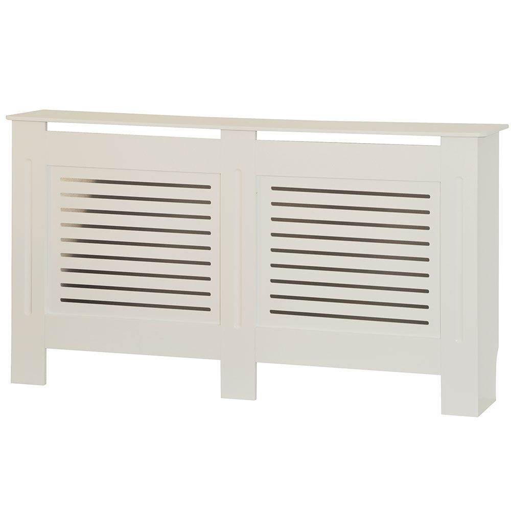 Mdf Wood Kitchen Cabinets: Milton Radiator Cover White Modern MDF Wood Cabinet Grill