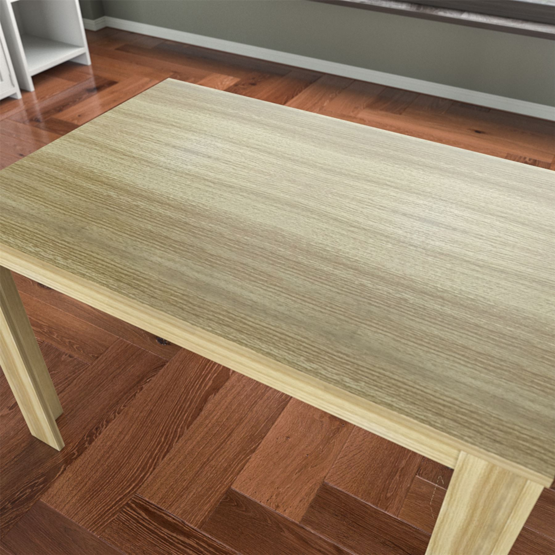 Dining Table 4 Seater Mdf Wood Kitchen Dining Room Seat