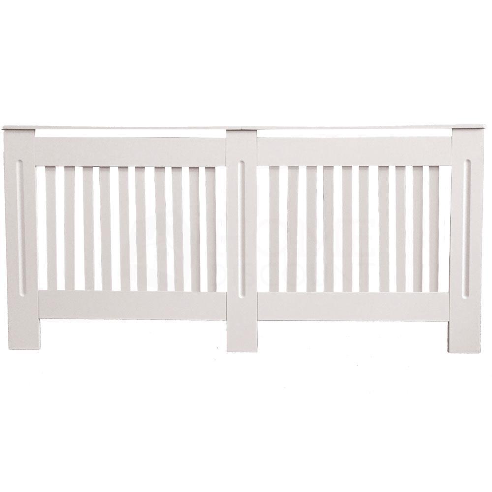 Chelsea-Couvre-radiateur-Moderne-Blanc-Armoire-a-lattes-Grill-meubles-en-bois-nouveau miniature 33