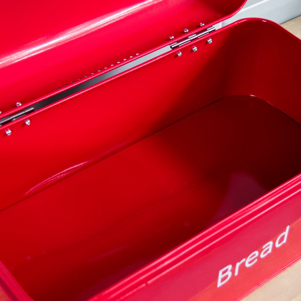 Bread-Bin-Retro-Curved-Mirrored-Steel-Kitchen-Loaf-Food-Storage-Container thumbnail 17