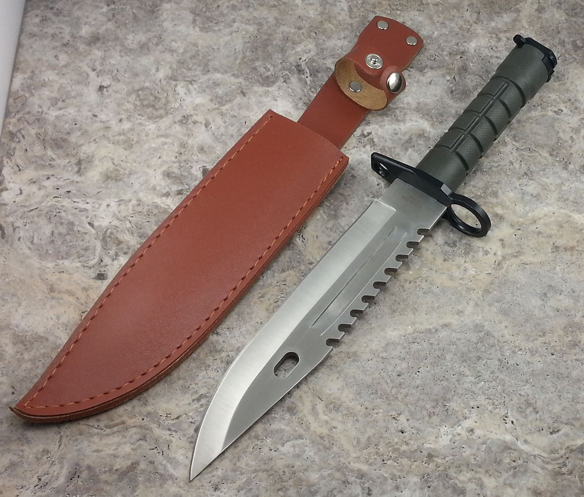 "13"" TACTICAL SURVIVAL Bayonet Military COMBAT Fixed Blade ..."