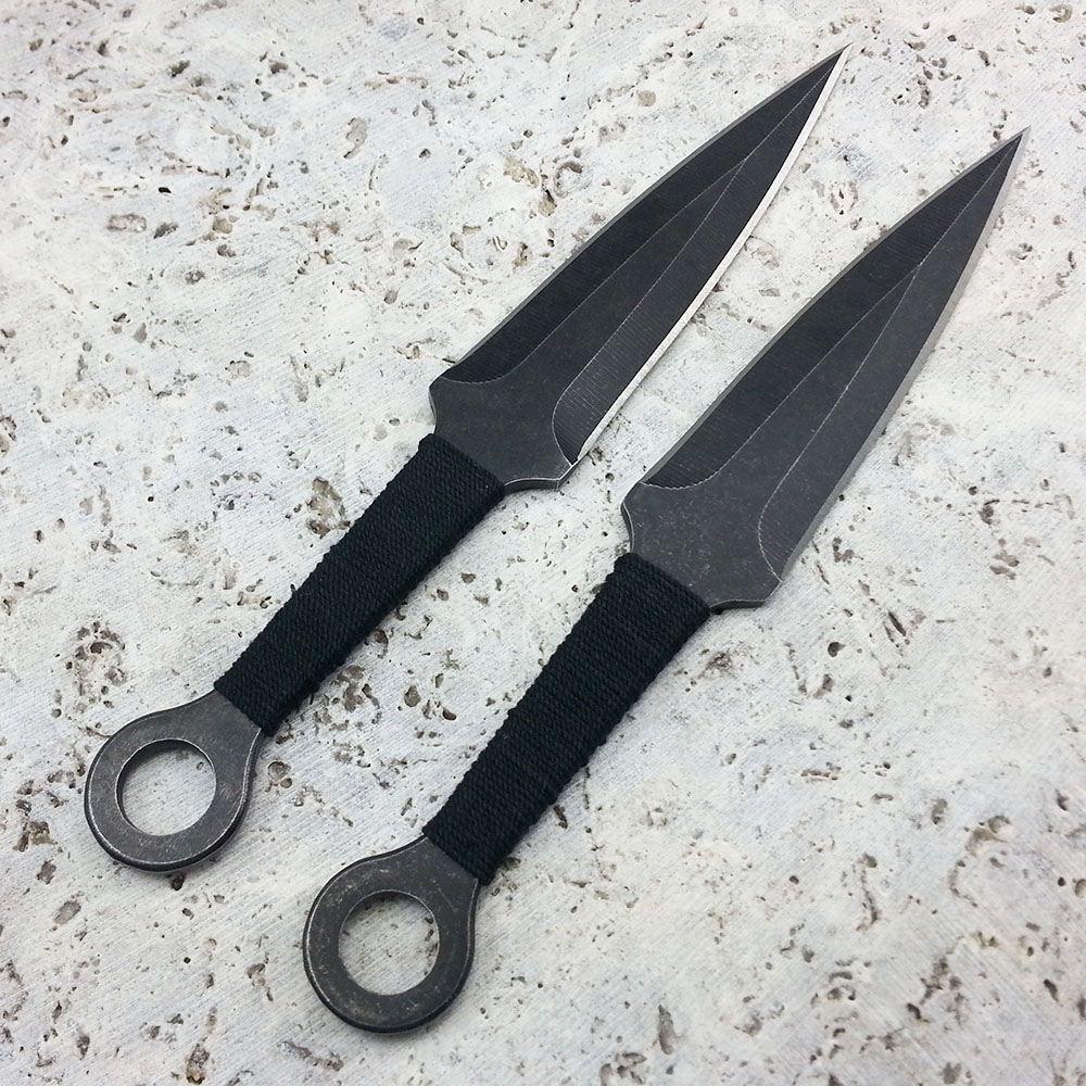 "2pc 7.5"" Tactical Survival Black Ninja Throwing Knives ..."