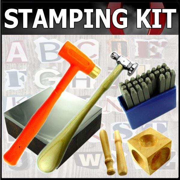 Metal Stamping Amp Dapping Kit Jewelry Making Anvil Set Ebay