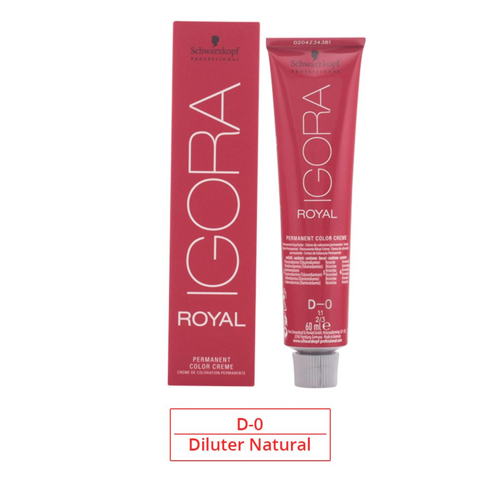 Schwarzkopf D 0 Igora Royal 60 Ml Diluter Natural Ebay