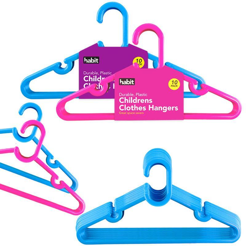 30x Blue Baby Clothes Hangers Coat Trouser Toddler Children Kids Plastic Slim