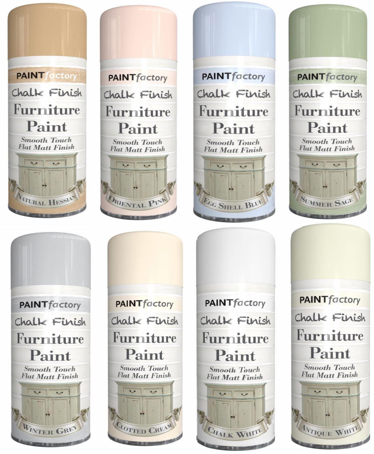 Chalk Finish Furniture Spray Paint Aerosol Smooth Touch ...