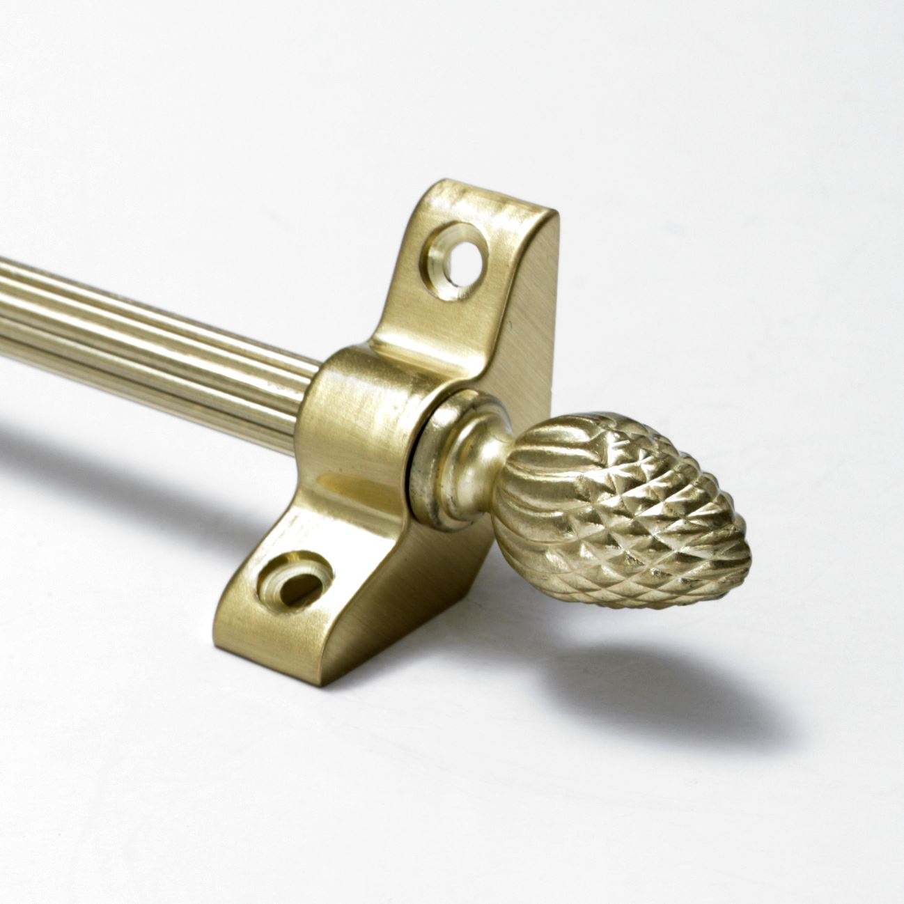"Pine Finial 13 X Satin Brass Stair Rods Norfolk Reed 3//8/"" x 36/"""