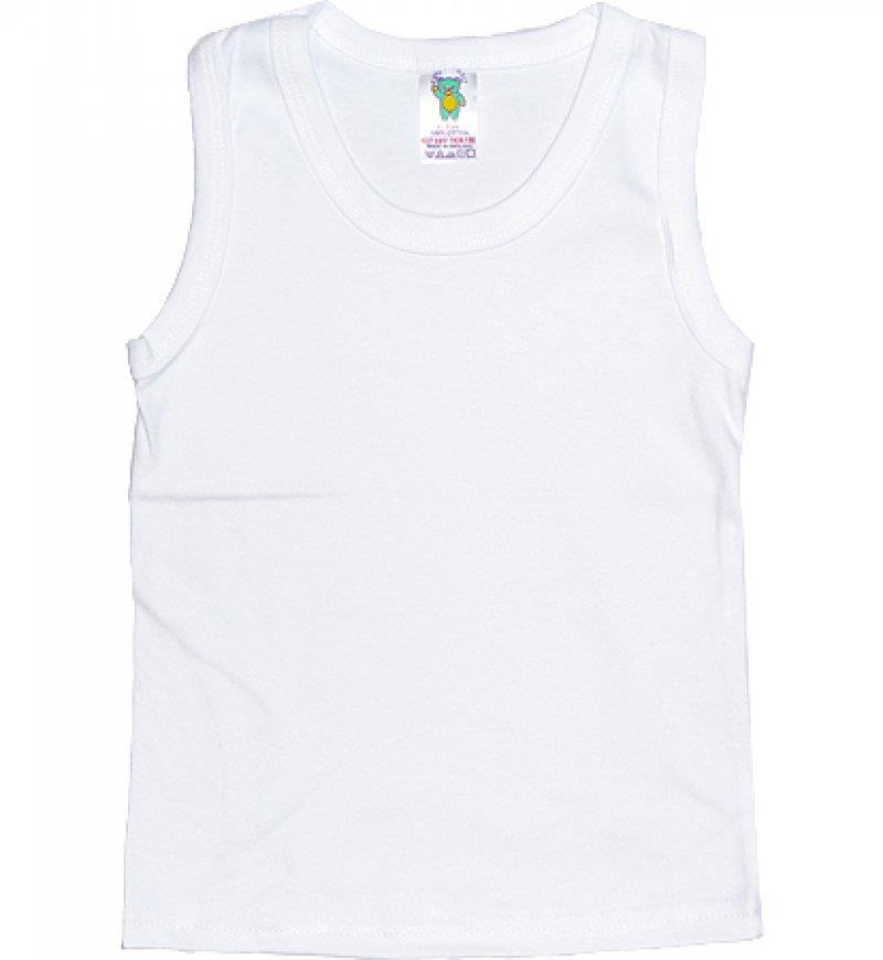 Boys Ex Chainstore Vest Tank Top Soft Cotton Plain  White