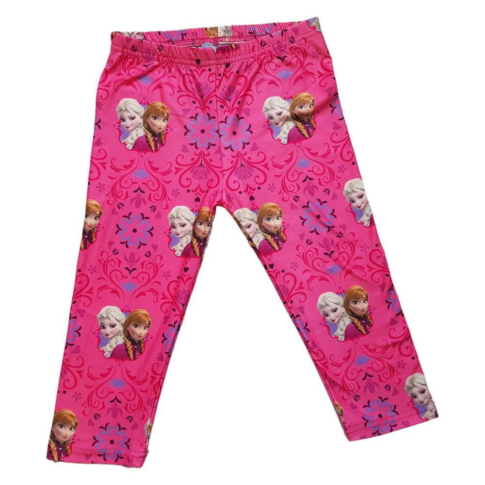 Disney Girls Frozen Anna and Elsa Short Sleeve Pink Pyjamas Sizes 5 to 10 Years