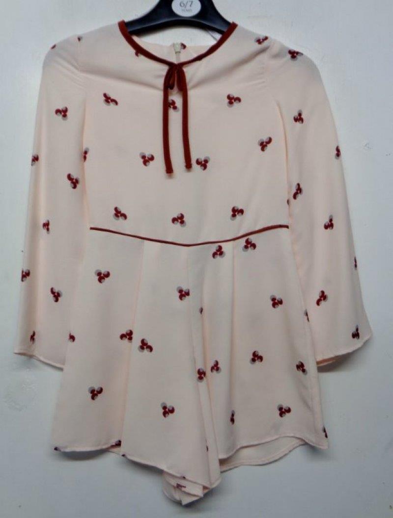 Girls Ex Chain Store Playsuit Dress Cream Age 4 5 6 7 8 9 10 11 12 13 14 years