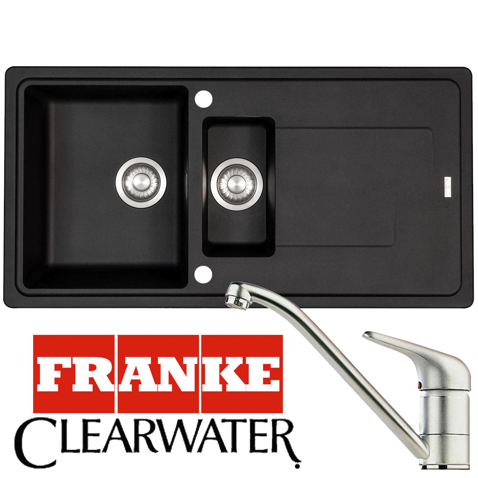 Franke Gemini 1.5 Bowl Stone Grey Kitchen Sink And Clearwater Creta Mixer Tap