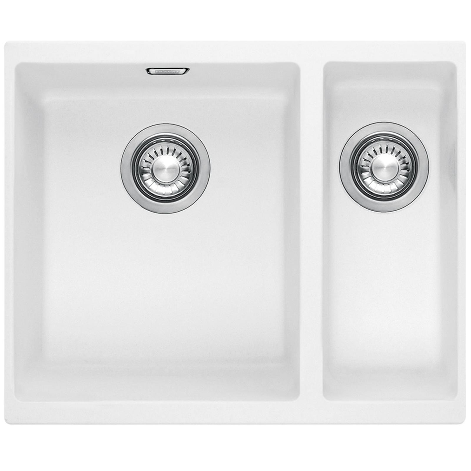 Image of: Franke Sid 160 1 5 Bowl Polar White Tectonite Undermount Kitchen Sink And Waste 7612980799978 Ebay