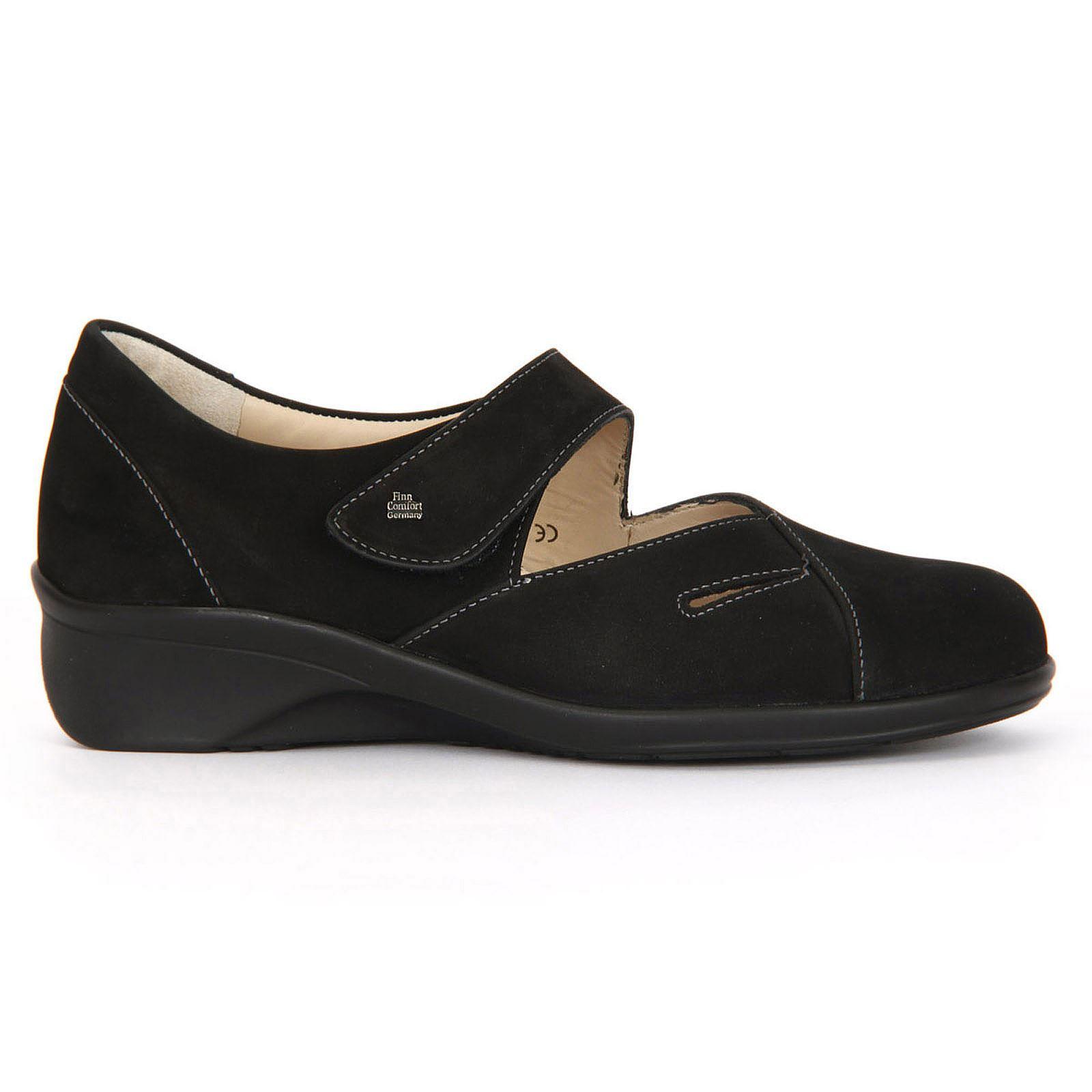 Finn Comfort Aquila 3594 Black Women Mary Jane Shoe Size 2.5-8.5 UK Nubuck
