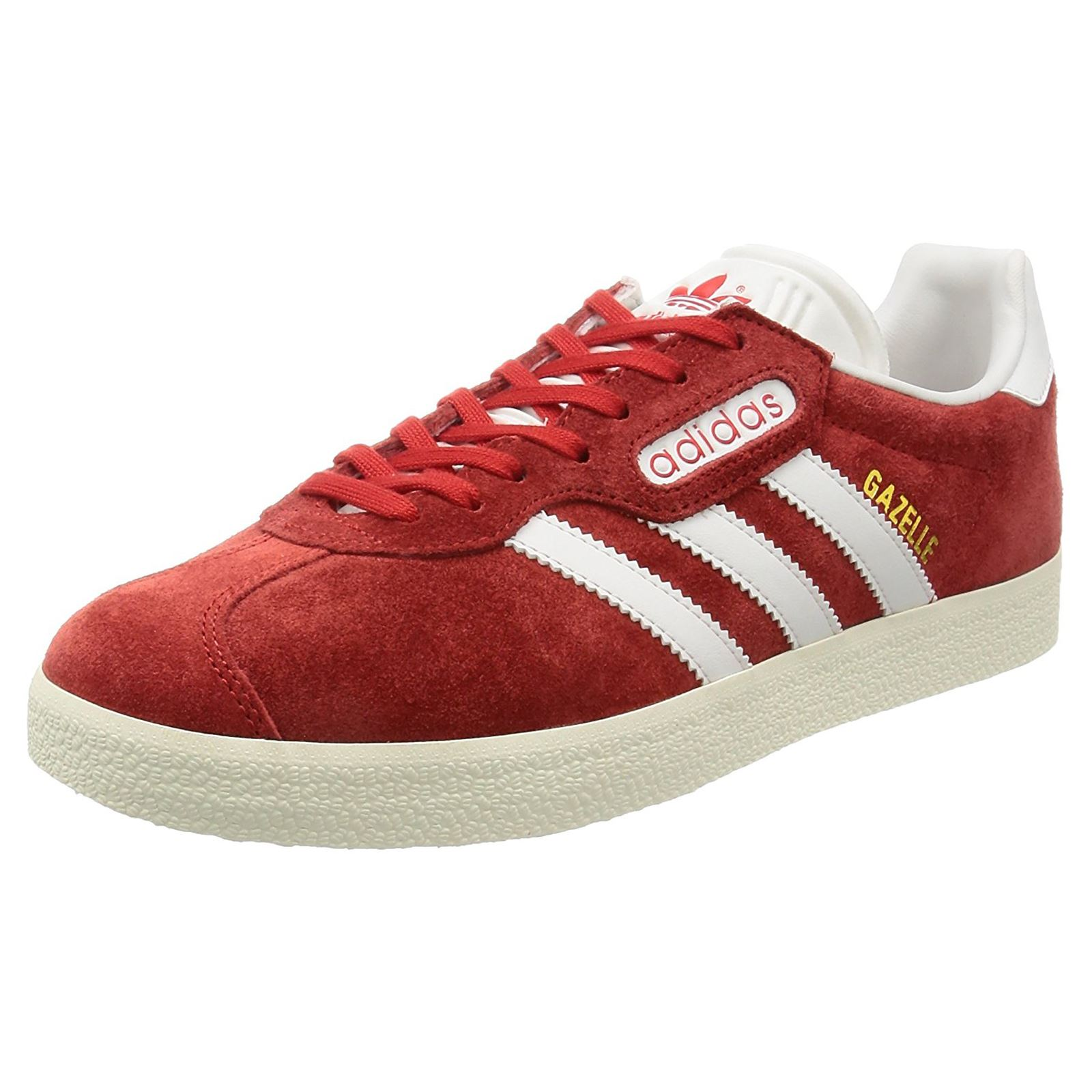Adidas Gazelle Super Red Vintage White Mens Originals Retro Low-Top Trainers 50cc011be