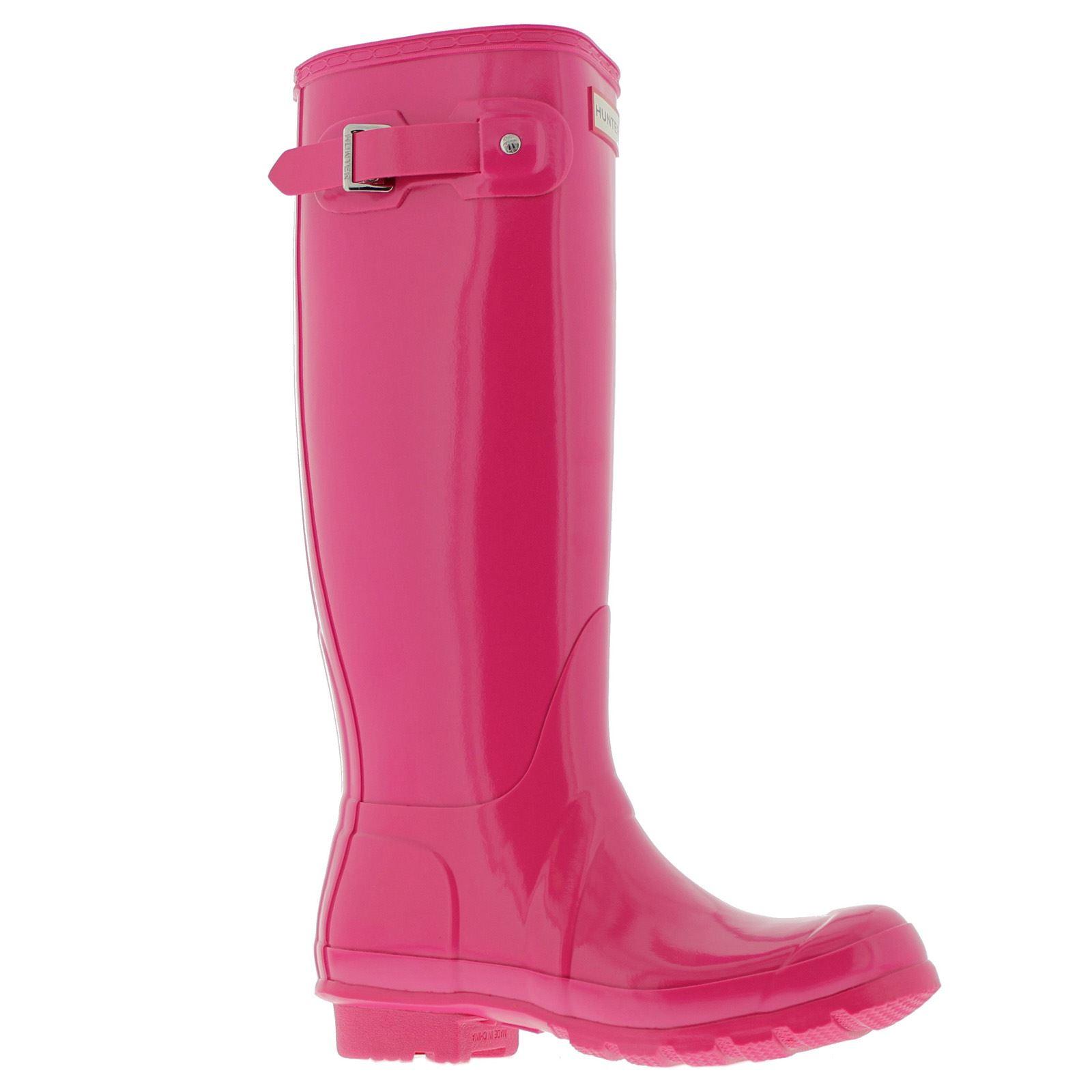 Womens Boots Hunter Original Gloss Bright Cerise