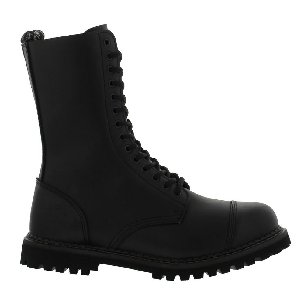 Grinders Herald 14 Eyelet Black Mens Boots