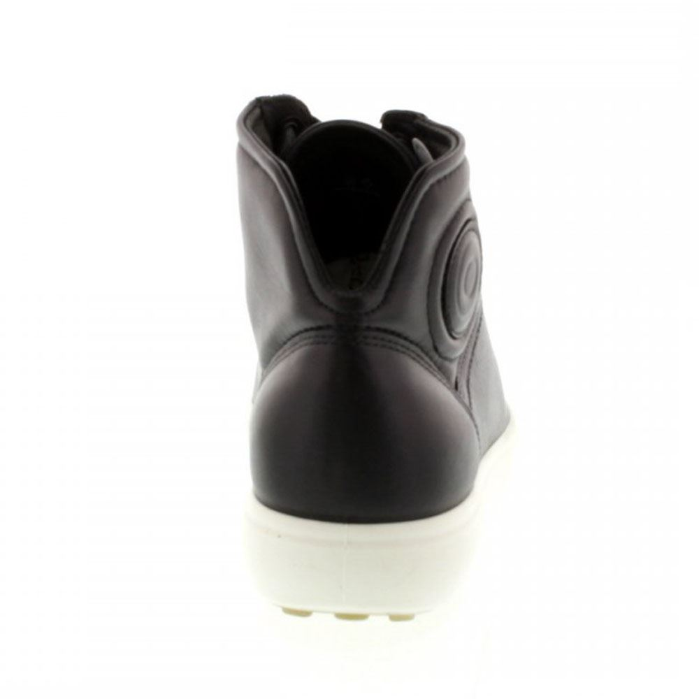 Ecco-Soft-7-Mid-Cut-Lace-Black-Womens-Trainers-Sneakers