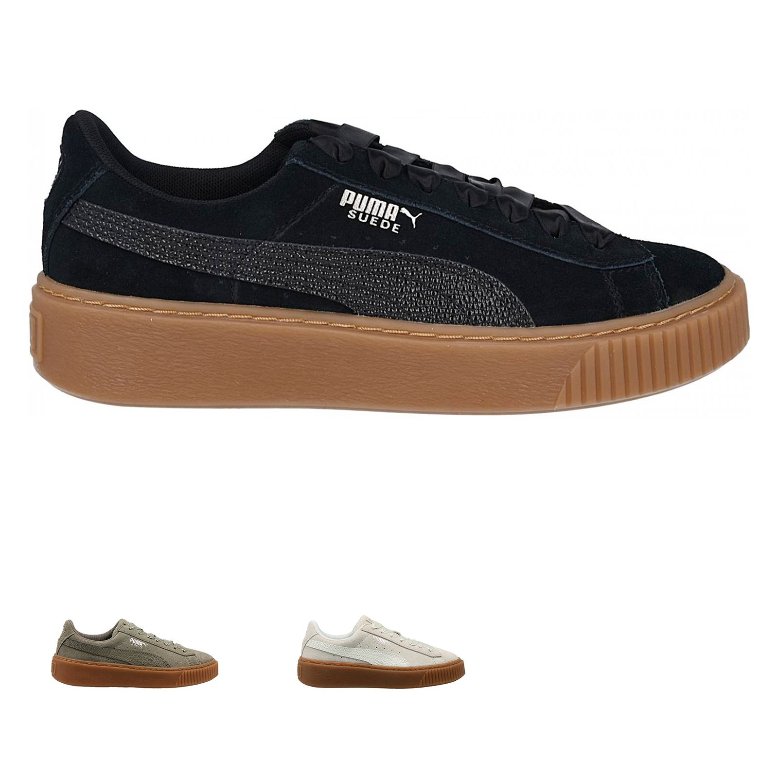 d6fe1c9bb281 Puma Suede Platform Bubbles Wns Suede Low-top Lace-up Sneakers ...