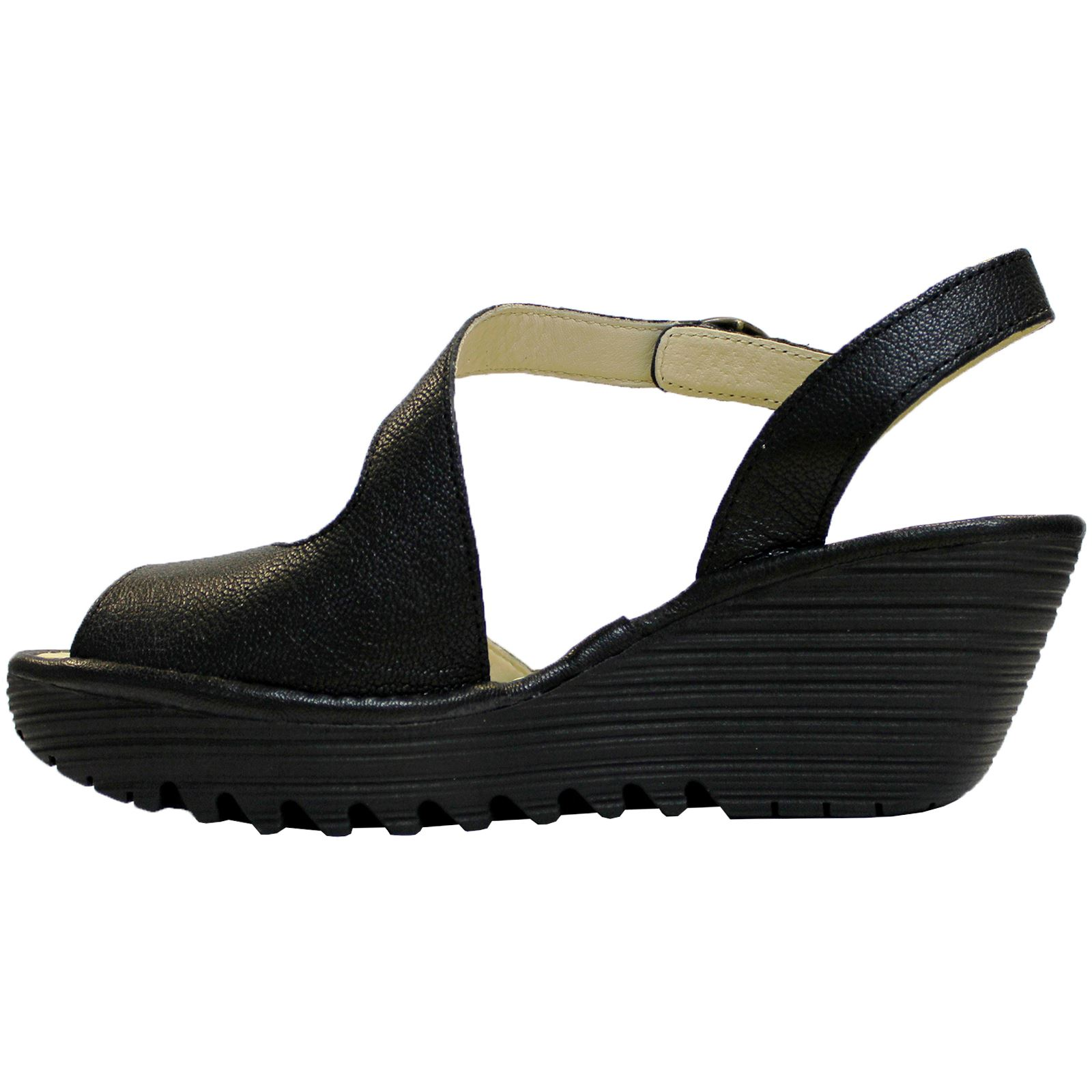 Fly-London-Yamp-836-Black-Womens-Leather-Wedge-Peep-toe-Ankle-Strap-Sandals