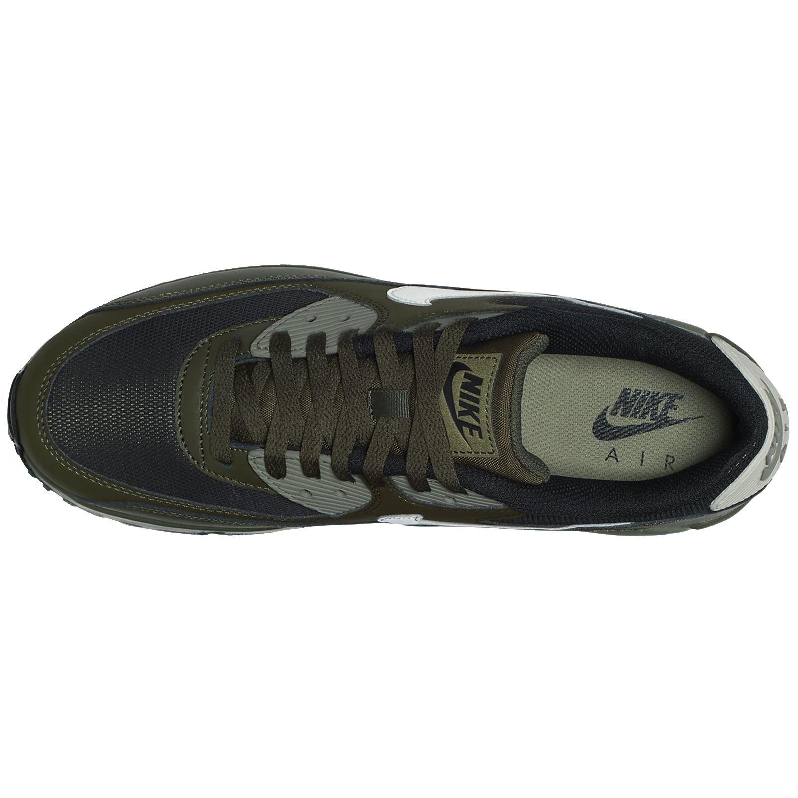 Nike Air Khaki Max 90 Essential Cargo Khaki Air Men Leather Mesh Max Air Sneakers Trainers 50aae8