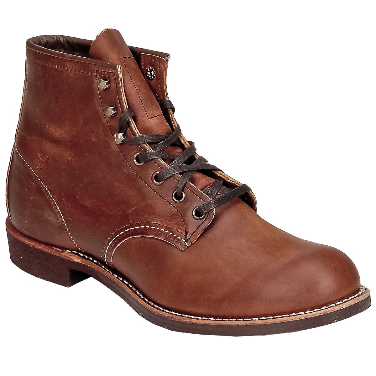 Redwing ankle boot Blacksmith model in mid brown leather