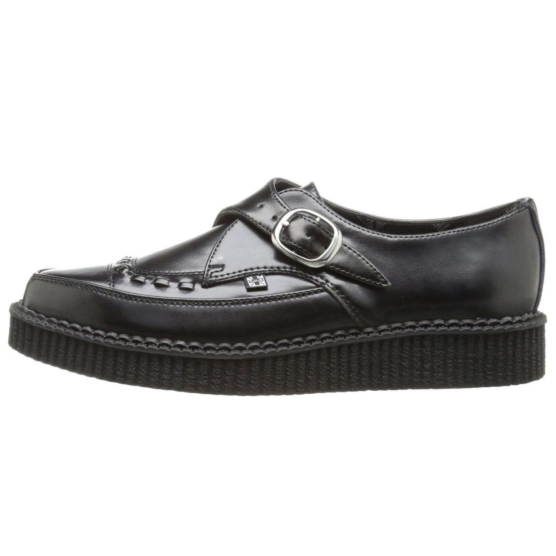 t u k monk buckle pointed creeper black mens shoes ebay