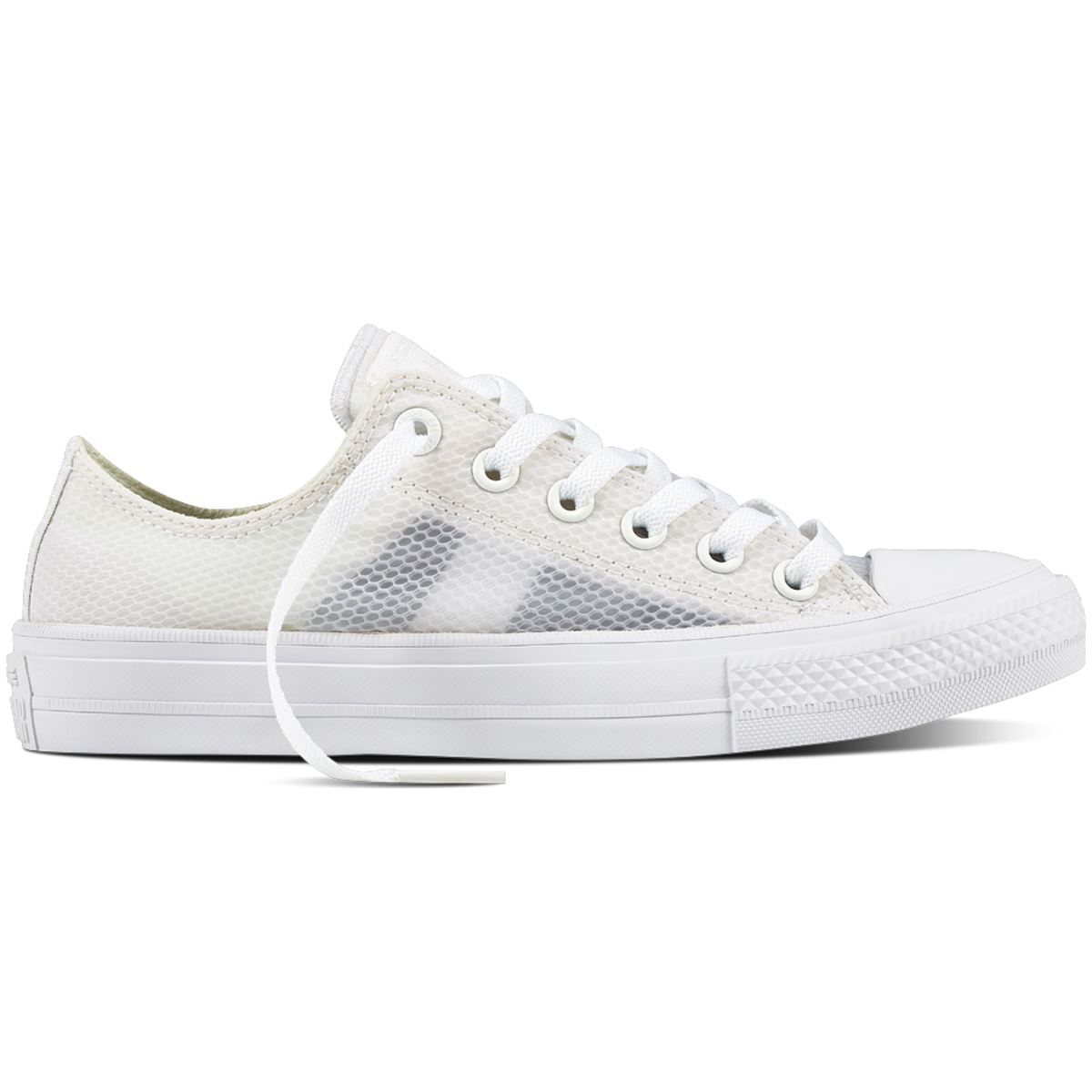 Details about Converse CT AS 2 Ox Sheen Mesh White Women's Low Top Trainers
