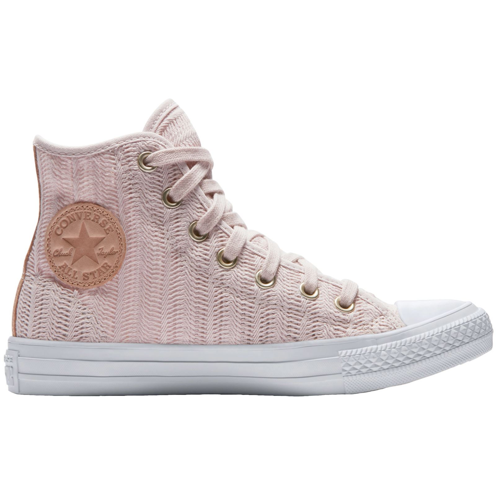 Converse Chuck Taylor All Star Hi Barely Rose Tan Womens Mesh High Top Trainers
