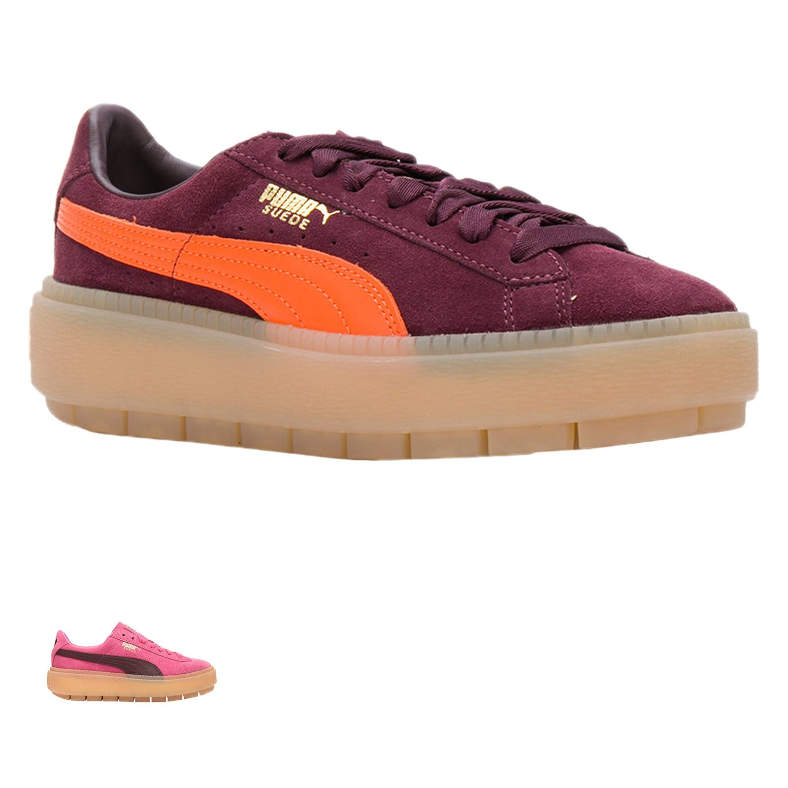 0f2fab31f26 Puma Platform Trace Block Wns Suede Low-top Lace-up Sneakers ...