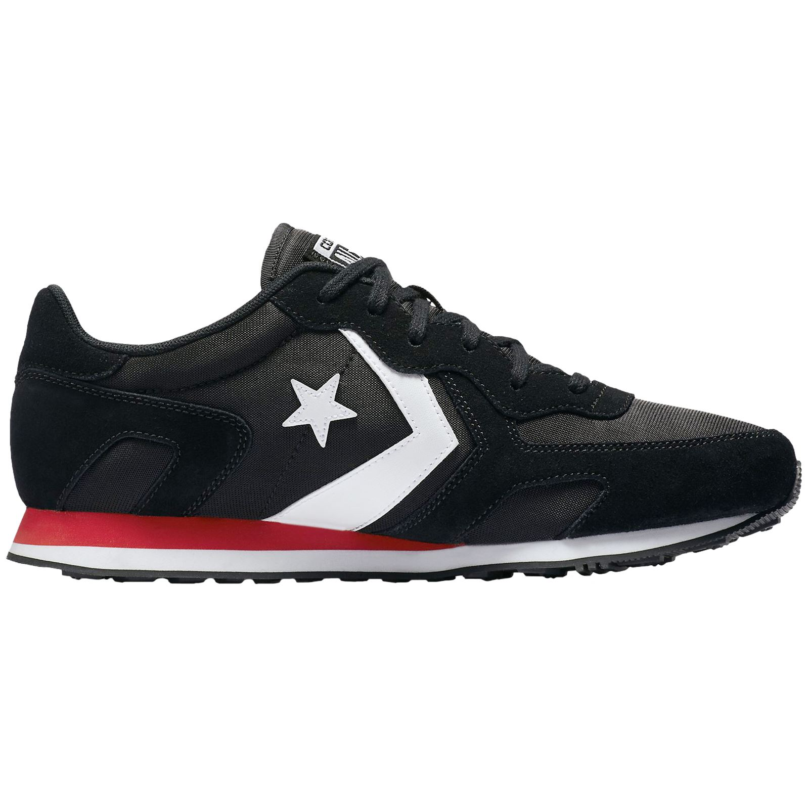 Converse Thunderbolt Ox Black Enamel Red Men Suede Mesh Classic Low top Trainers