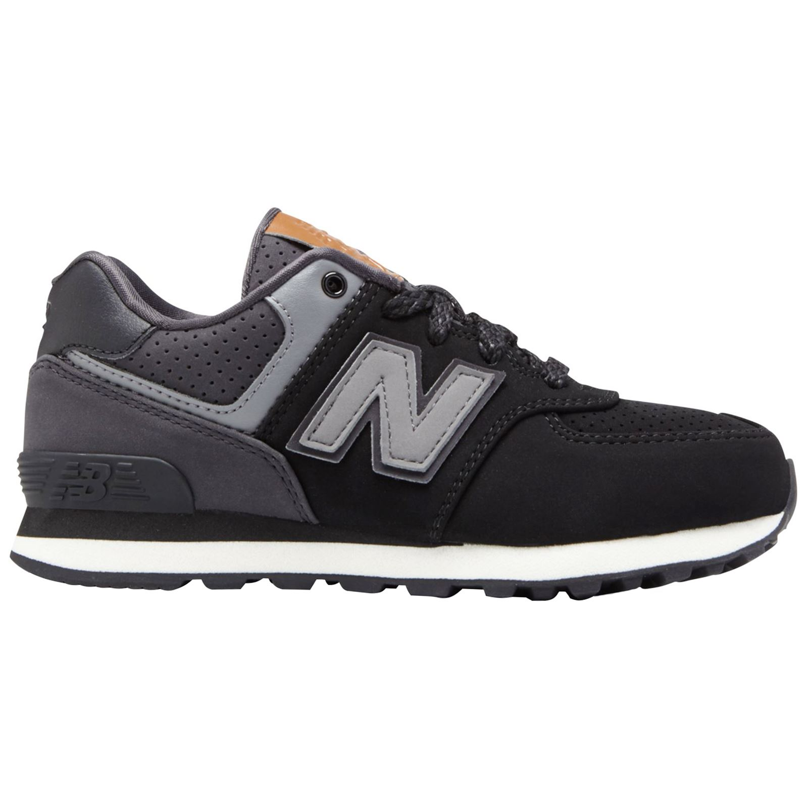 New Low Balance Youth Up Sneakers Classic Grey 574 Top Black Lace WDH2IE9Y