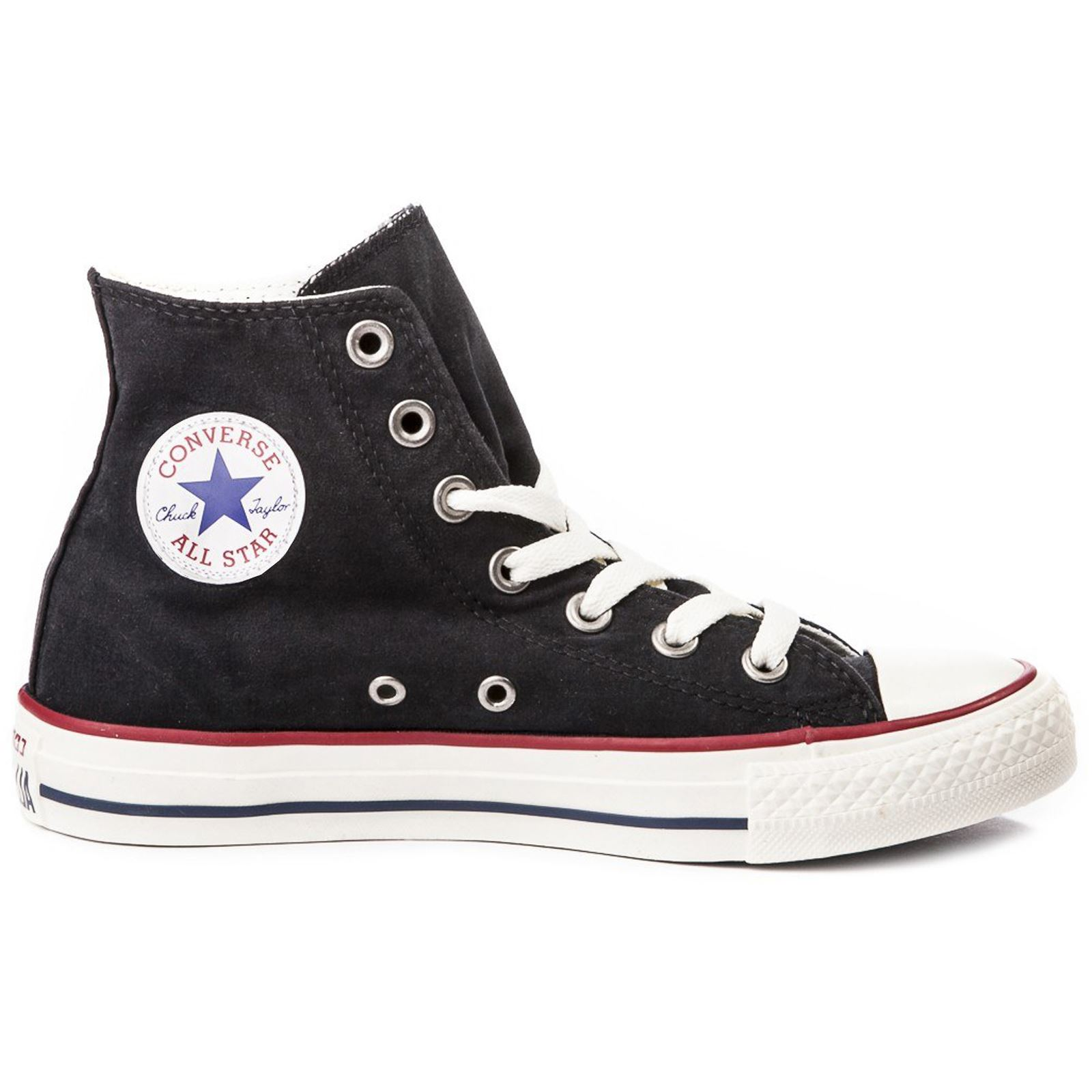 e28be4979ef5 Converse Chuck Taylor All Star Hi Black Garnet White Womens Canvas Trainers