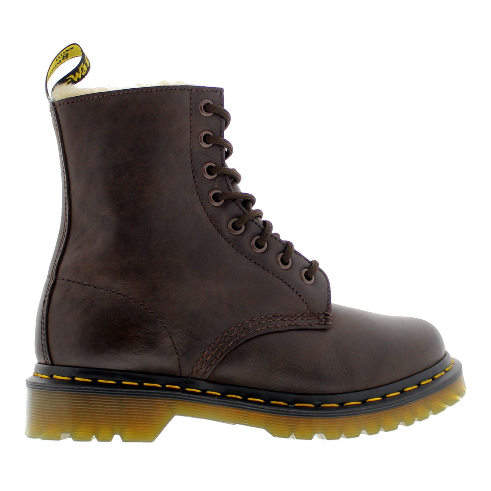 Image is loading Dr-Martens-Serena-Burnished-Wyoming-Dark-Brown-Womens-