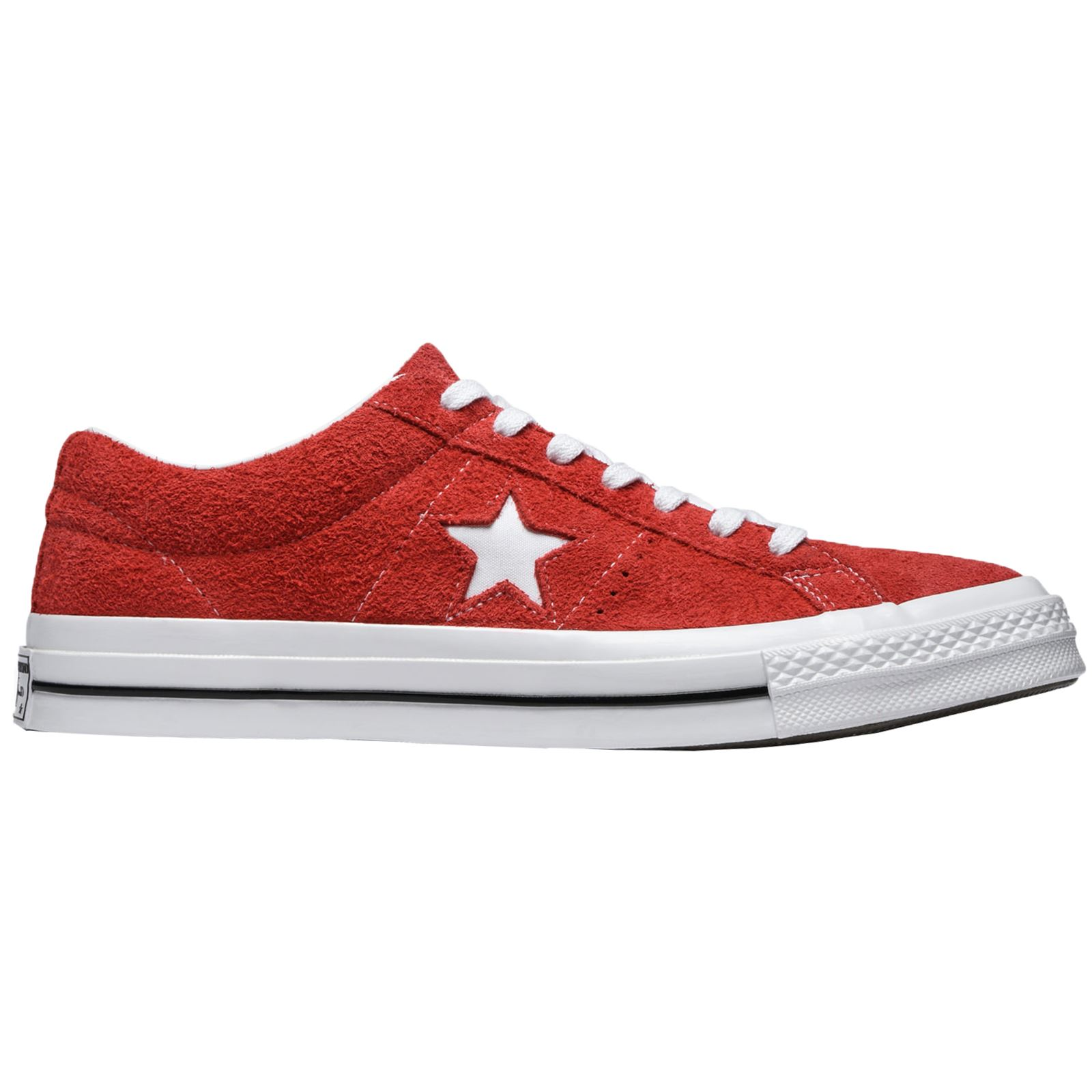 7337c63a1a3b Converse One Star Ox Red White Mens Suede Casual Low-top Sneakers Trainers