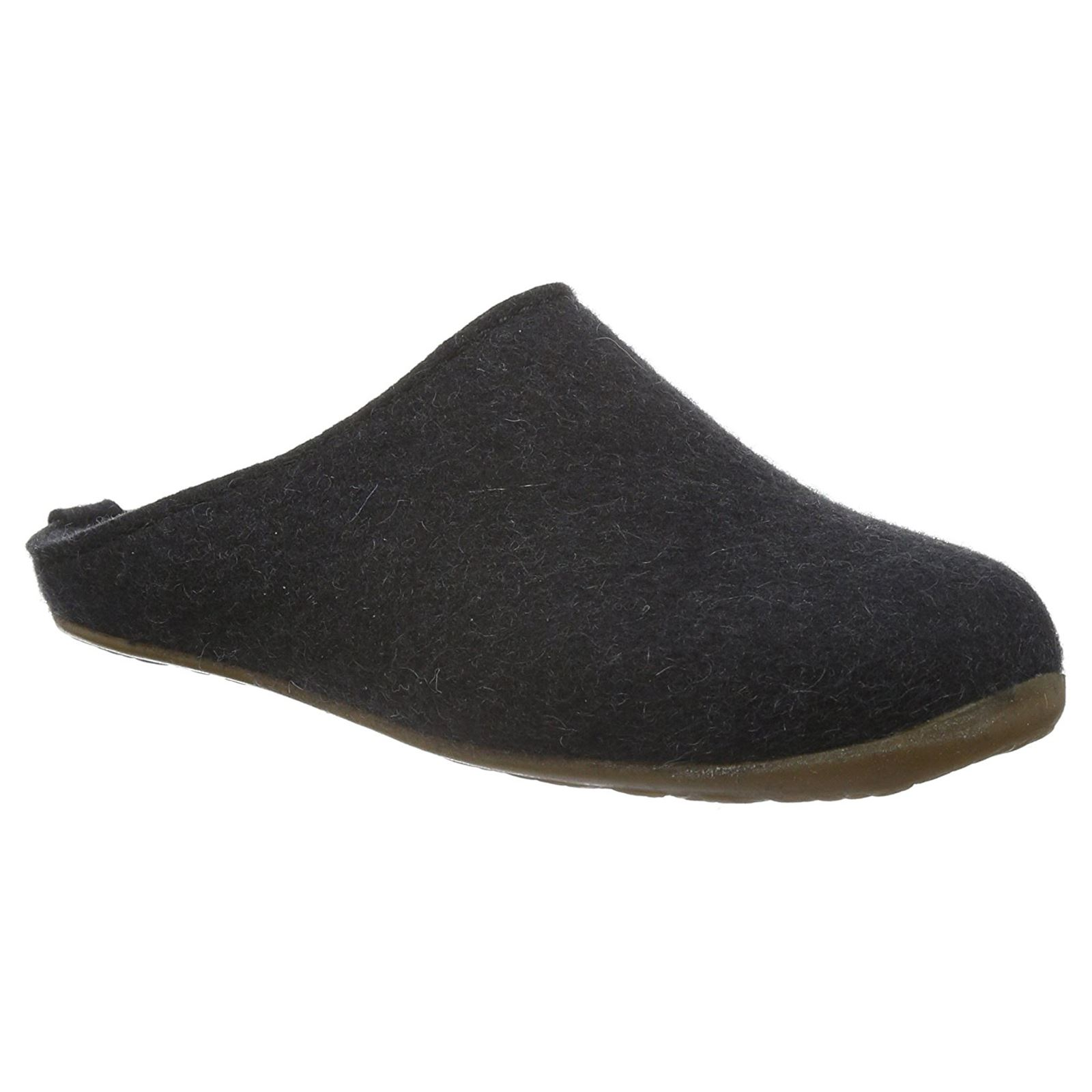 Haflinger Everest Fundus Graphite Womens Wool Clogs Slip-on Open Back Slippers