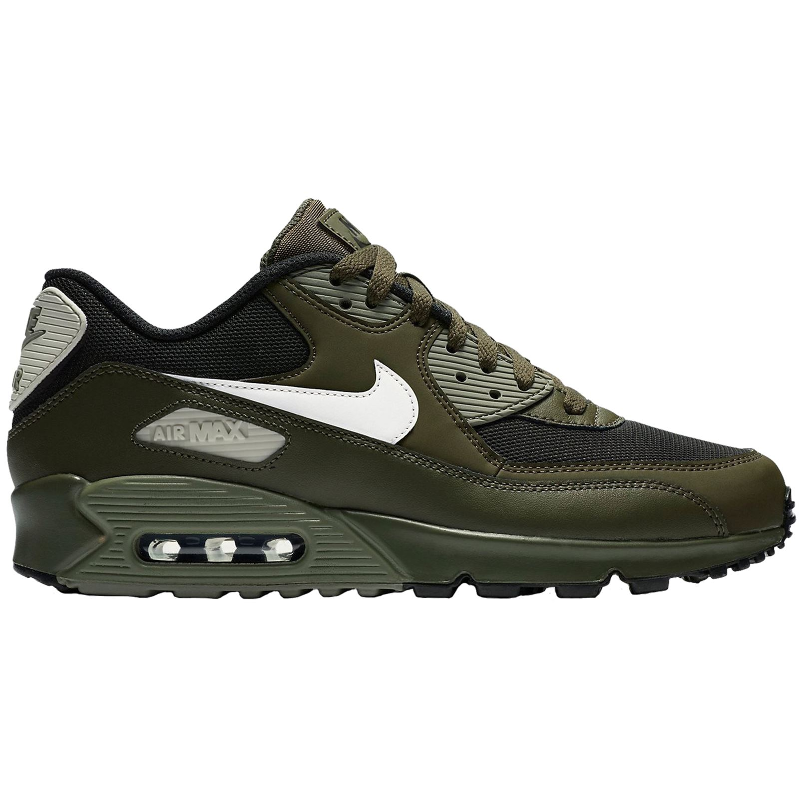 Nike Air Max 90 Essential Cargo Khaki Men Leather Mesh Max Air Sneakers Trainers