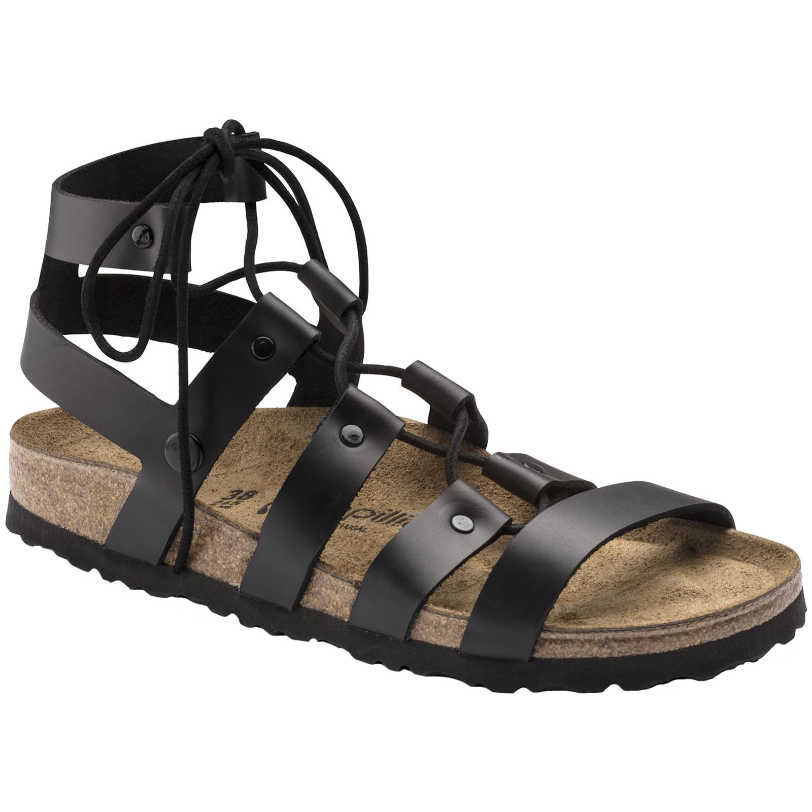 999dafac06d Details about Papillio by Birkenstock Cleo Black Womens Leather Gladiator  Strappy Sandals