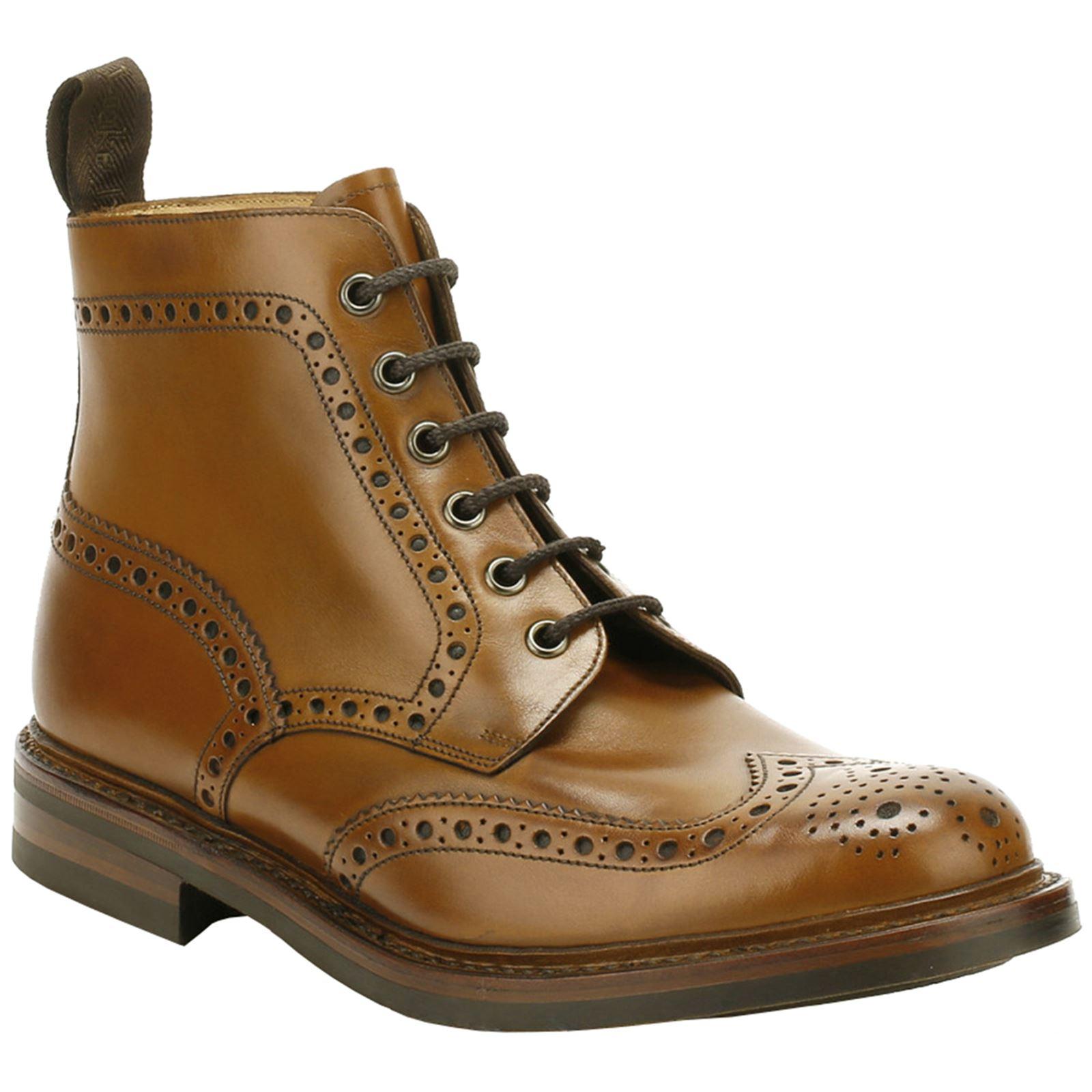 Dettagli su Loake Bedale Tan da uomo in pelle CALATA all'inglese Alla Caviglia Stivali Lace Up mostra il titolo originale