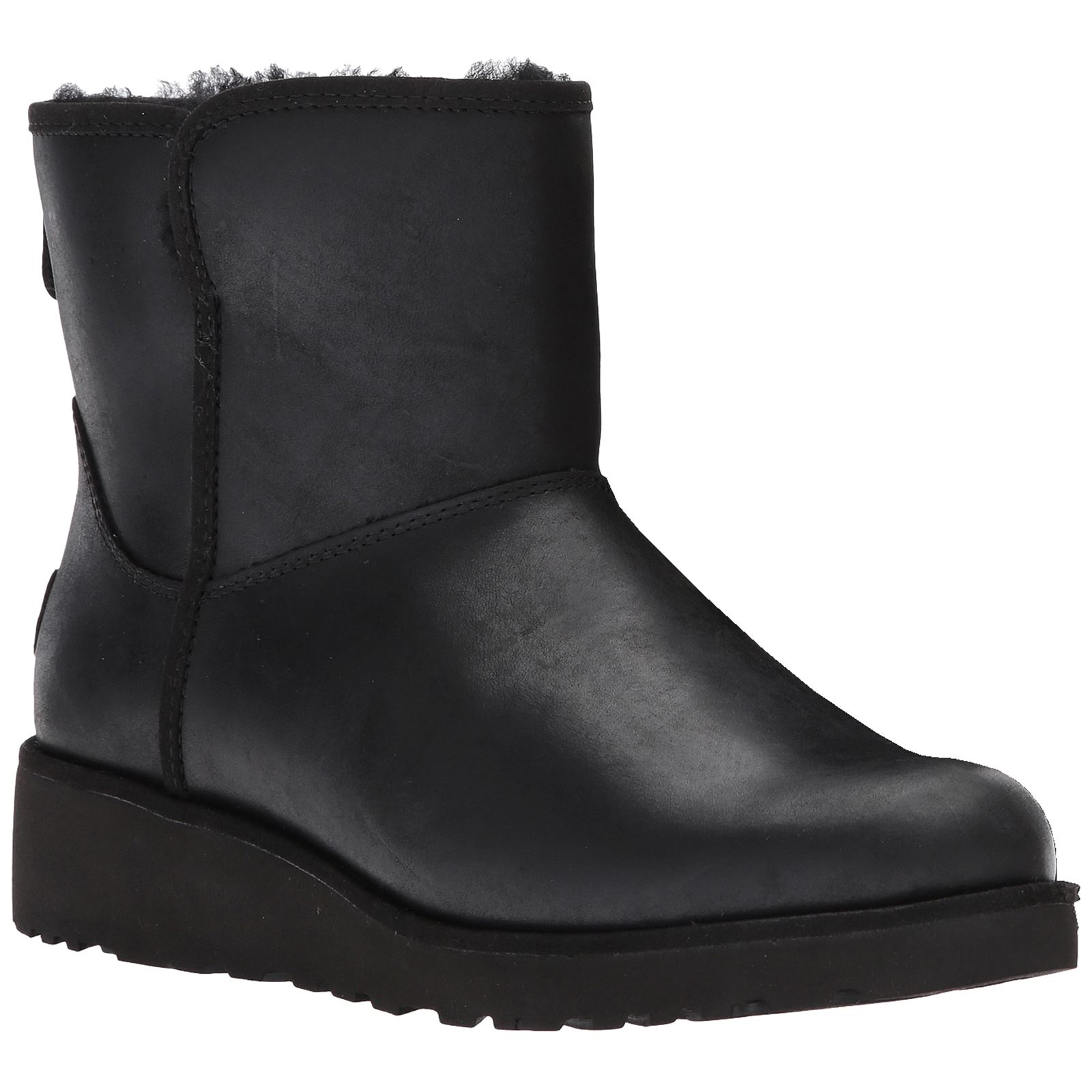 Ugg Australia Ankle About Boots Kristin Womens Black Details Leather AqFwZ1xRT